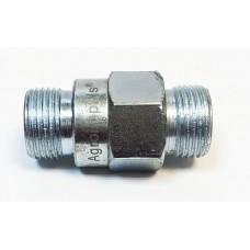 Штуцер соединительный 24х24 (S24) (M20х1.5-М20х1.5) с обратным дроссельным клапаном 1.2 мм